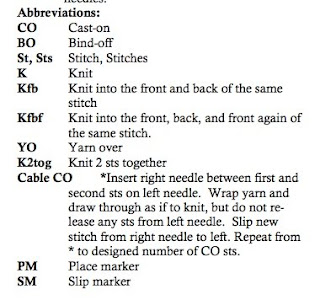 Knitting Stitches And Abbreviations : KNITTING ABBREVIATIONS KFB Free Knitting Projects