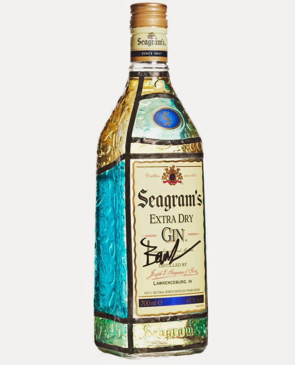 BOTELLA SEAGRAMS GIN BY BARUC CORAZON