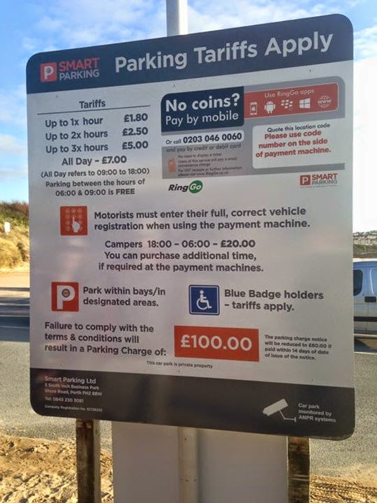 Parkingeye Kicked Out Of Fistral
