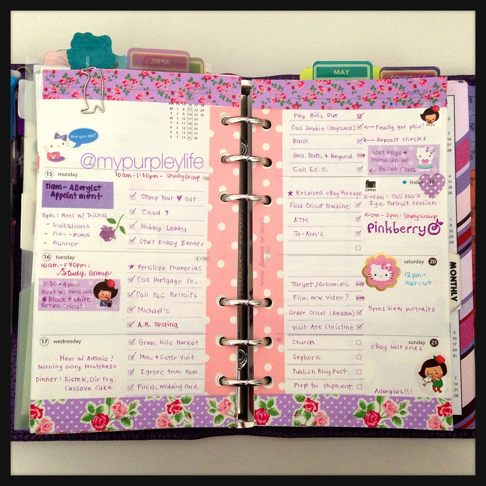 Philofaxy using washi tape in your filofax for Decoration page