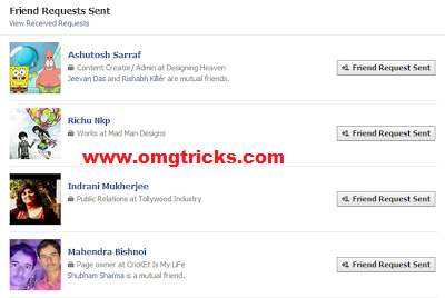 how to delete pending request on facebook