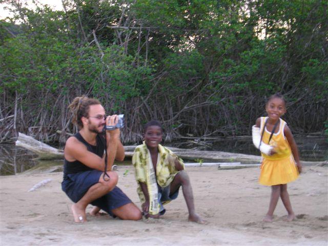 Rasta & kids inna Jamaican yard
