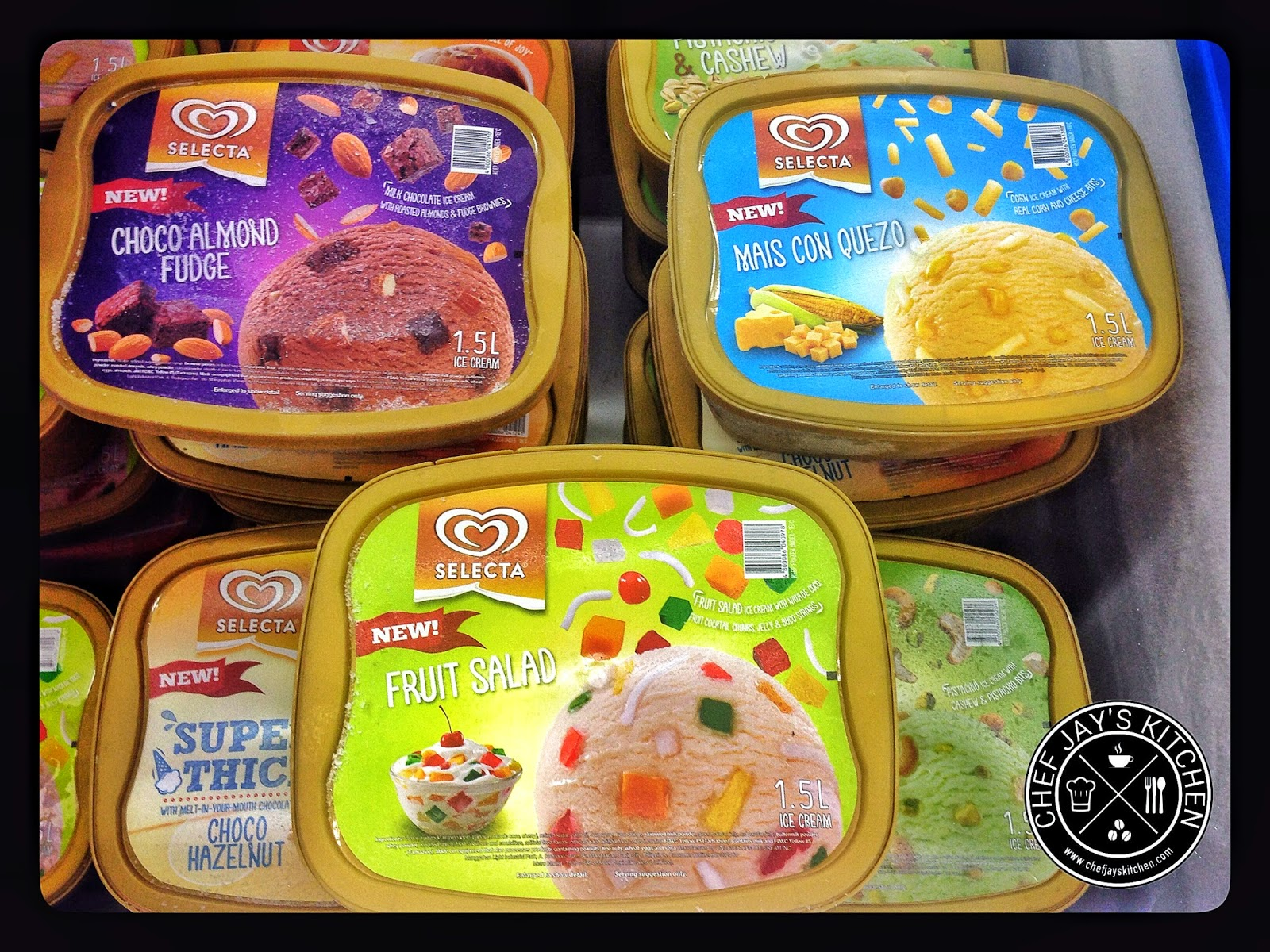 New Selecta Ice Cream Flavors: Mais Con Quezo, Choco Almond Fudge, and Fruit Salad