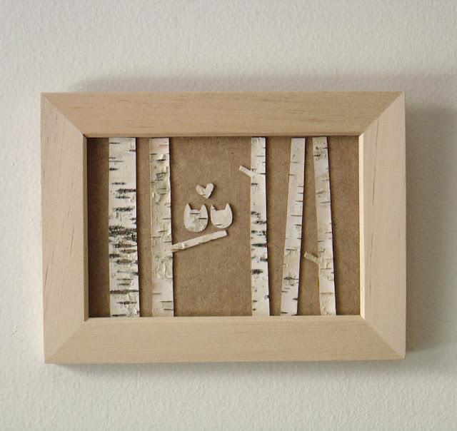 drewniany obraz z brzozą drwniane inspiracje by eco manufaktura