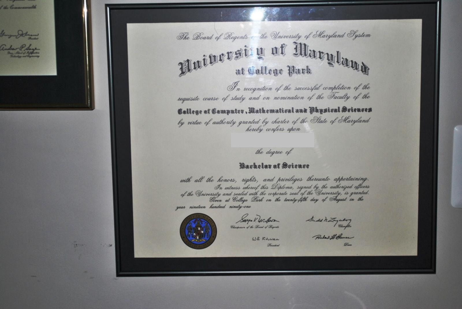 Adventures in diy mounting my diploma for 8 then i put the frame back together excuse the awful photos the matting really does look nice even alex agrees solutioingenieria Image collections