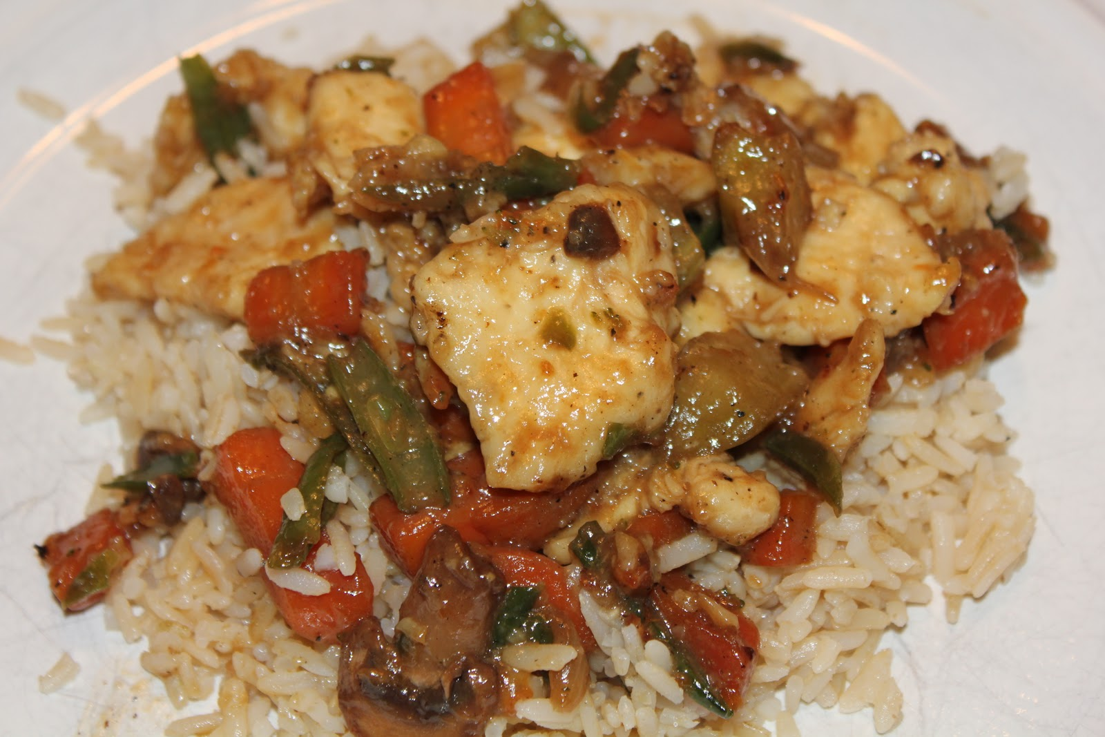 Counting My Cupcakes: Honey Chicken Stir-Fry