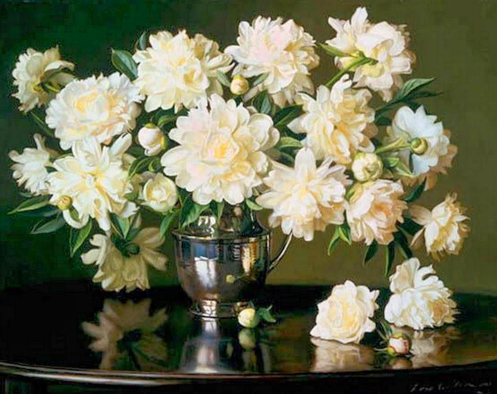 flores-en-realismo-al-oleo