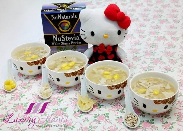 nunaturals white stevia powder barley recipe