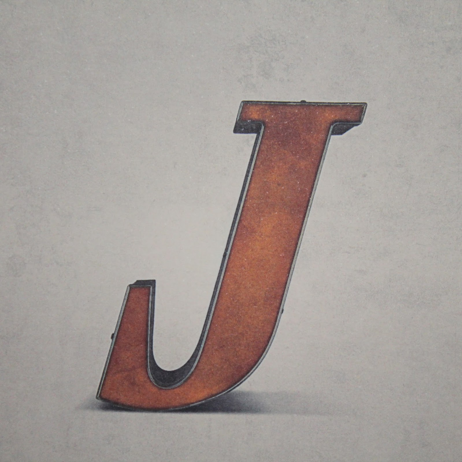 J Typo Alphabet