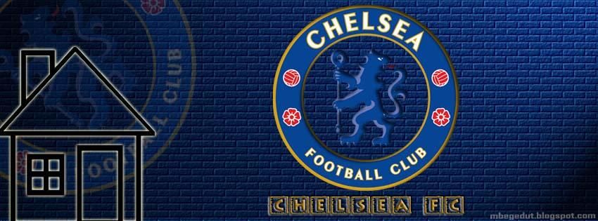 Chelsea FC Facebook Cover Dark-Blue Brick ( download )