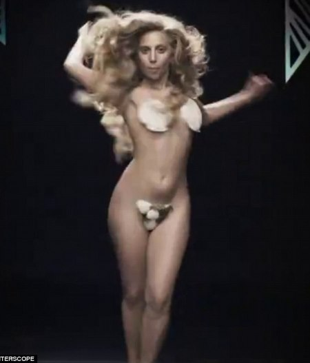 Lady Gaga shows off stretched Marked Breasts