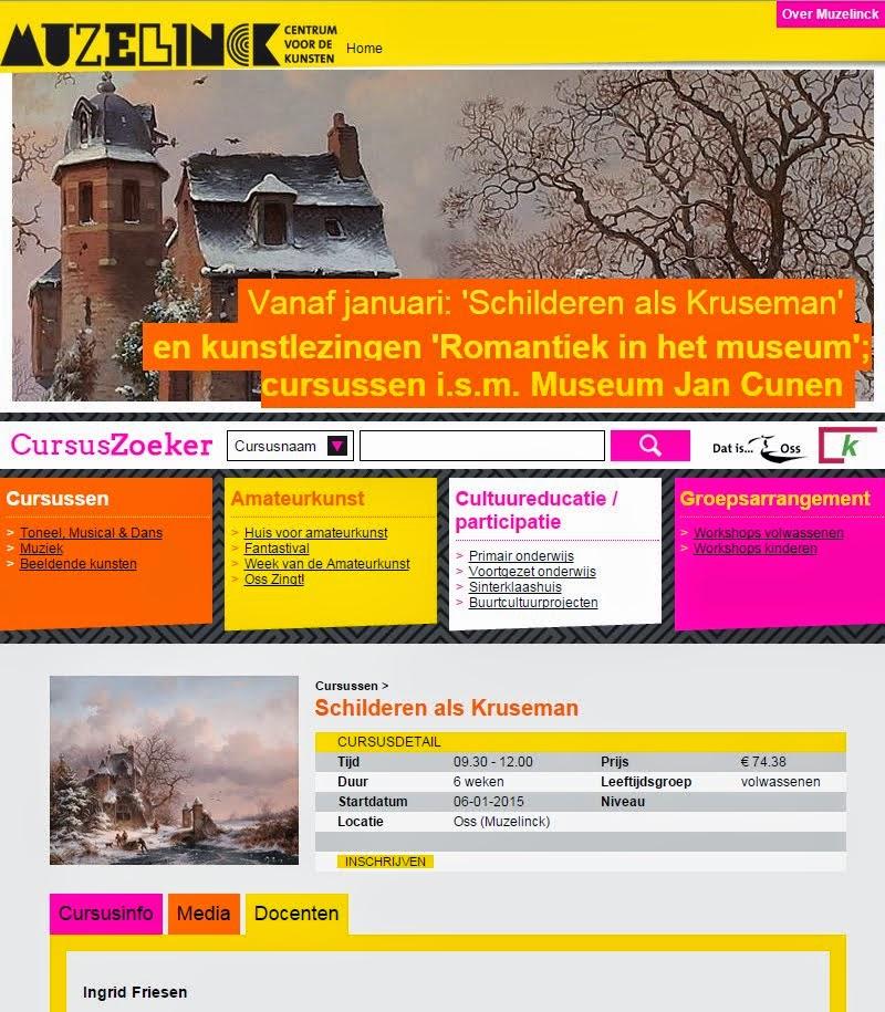 'Schilderen als Kruseman' Inschrijven kan via de Muzelinck.