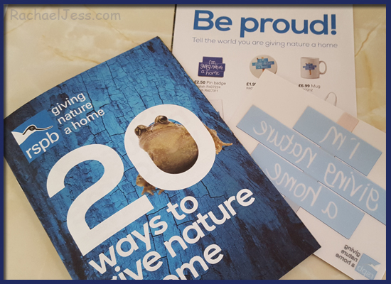 Great tips and advice on how to give nature a home with the RSPB booket
