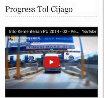 PROGRESS TOL CIJAGO