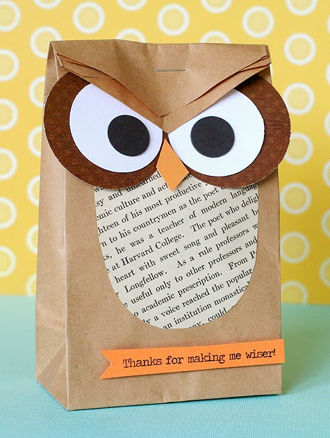 DIY Owl Treat Bag.