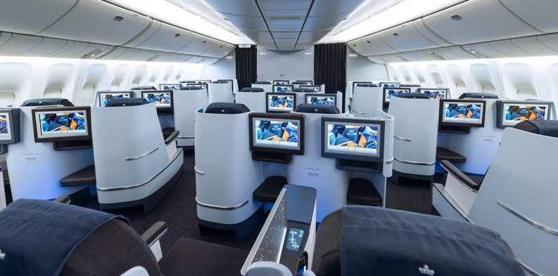 KLM desembarca suas novas poltronas World Business Class no Brasil