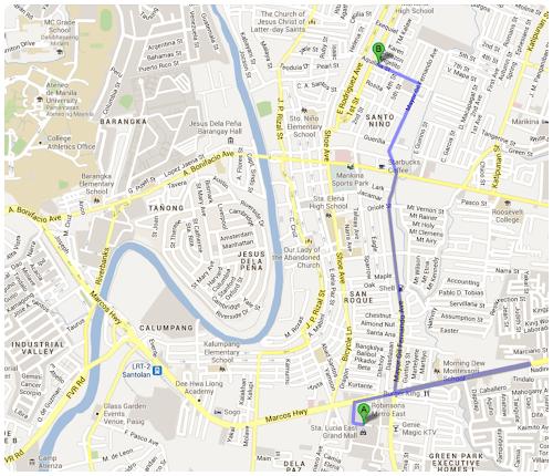 Kanto Freestyle Breakfast Marikina Map