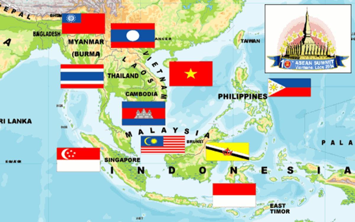 Gallery For gt; Peta Buta Asia Tenggara