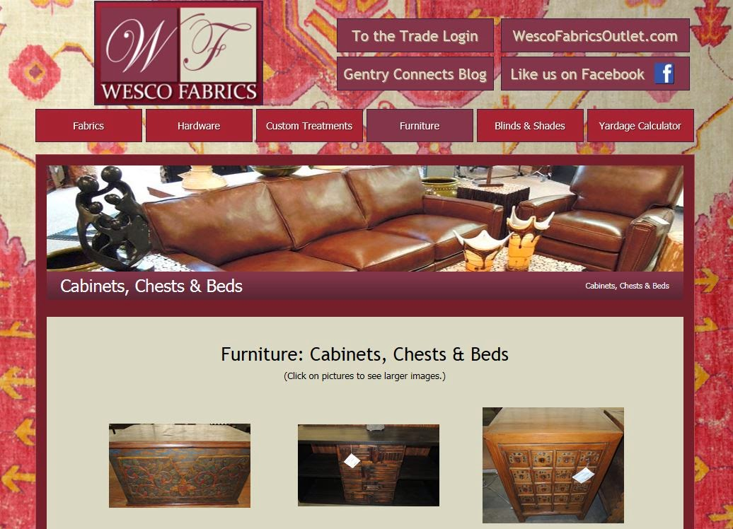 Wesco Fabrics warehouse sale, furniture, accesssories