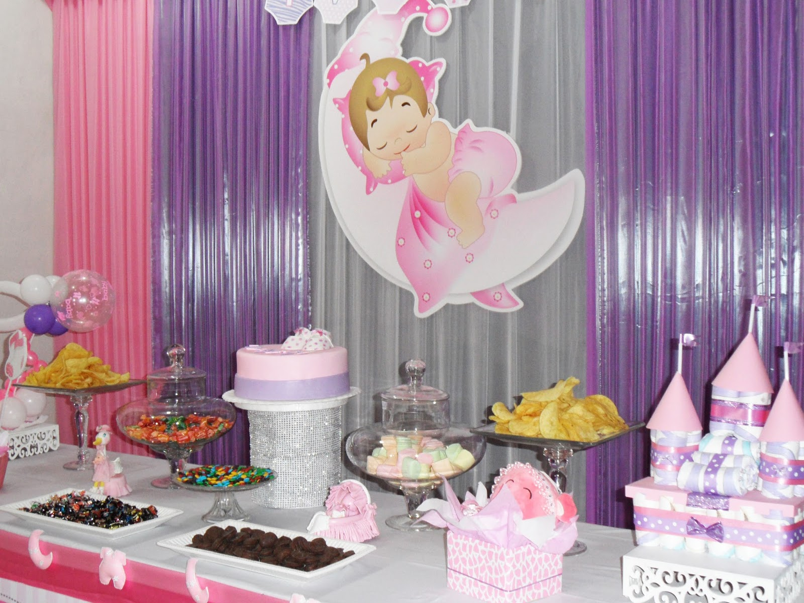 Decoraci n baby shower ni a ivanna baby shower Decoraciones para ninas