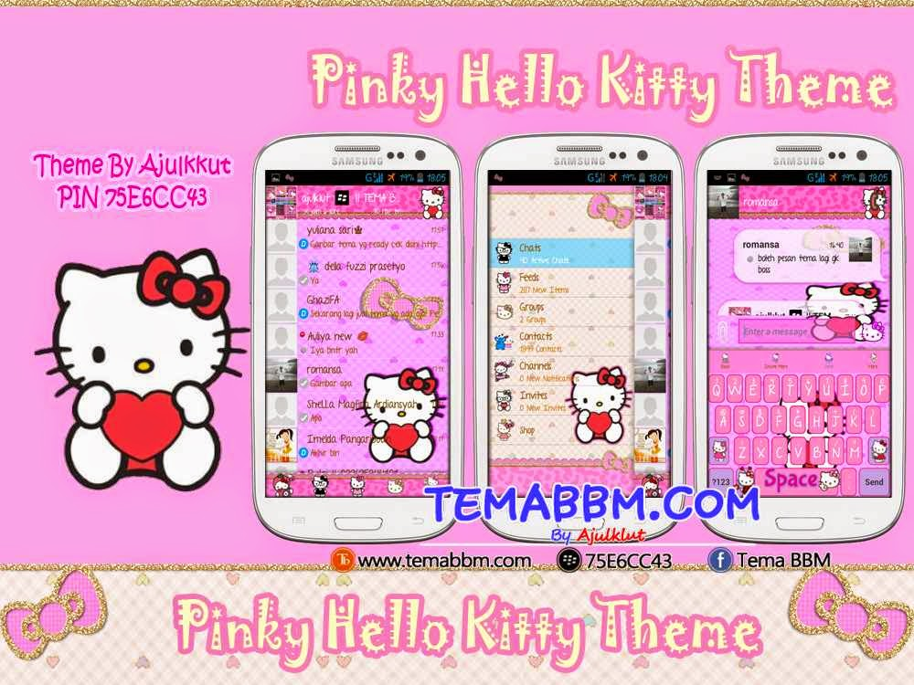 Tema BBM Hello Kitty