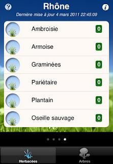 écran iphone alerte pollen swisslife