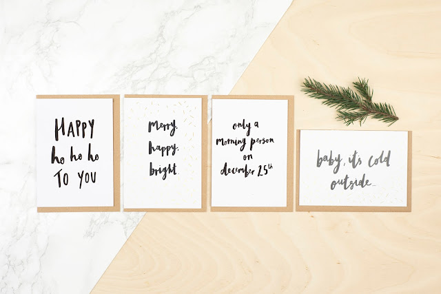lola hoad design christmas greeting cards handlettering