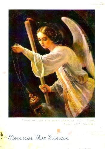 anioł na obrazie