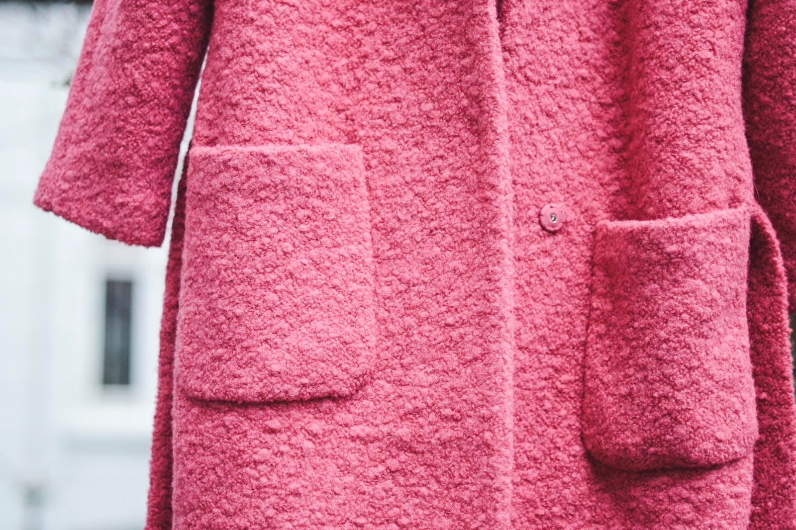 pink teddy jakke ganni