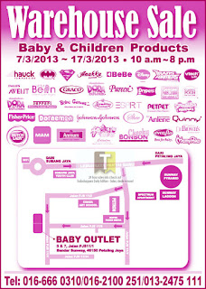 Baby Outlet Warehouse Sale 2013