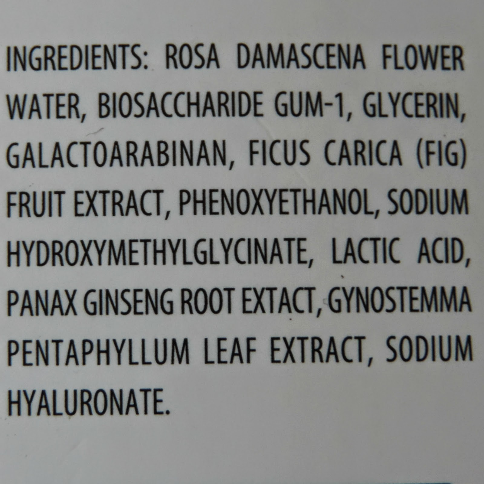 REN Tonic Moisture Mist Ingredients List