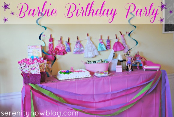 How to Throw a Barbie Birthday Party at Home, from Serenity Now