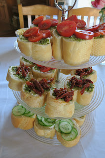 High tea savoury tiered platter