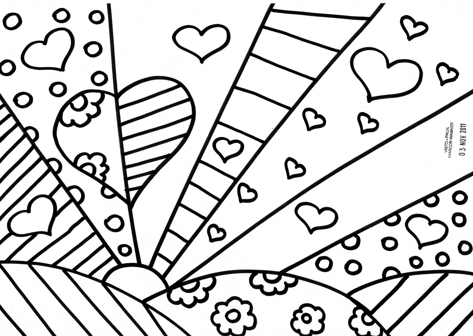 Romero britto coloring pages coloring pages Coloring book templates