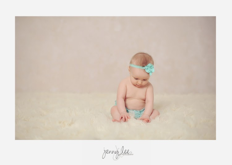 6-month baby portrait session in studio