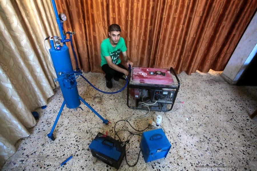 Remaja Gaza berjaya jana gas memasak elektrik guna Air APterkini