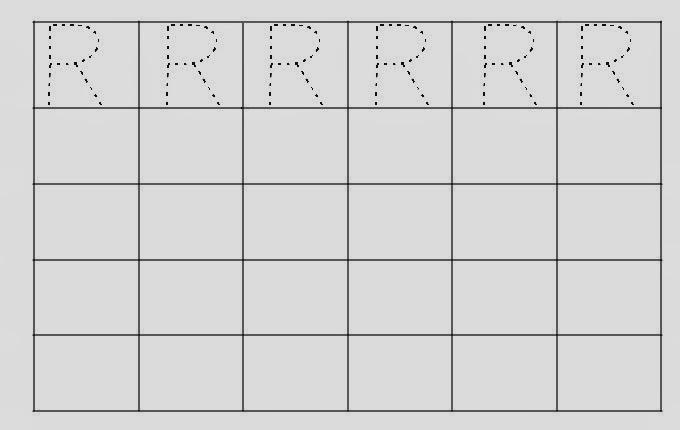 Alfabeto Pontilhado Letra R