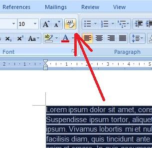 cara menghilangkan garis merah di word 2010