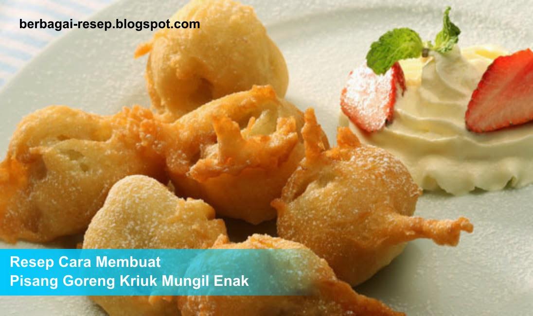 Resep Cara Membuat Pisang Goreng Kriuk Mungil Enak, renyah, gurih, bahan membuat pisang goreng
