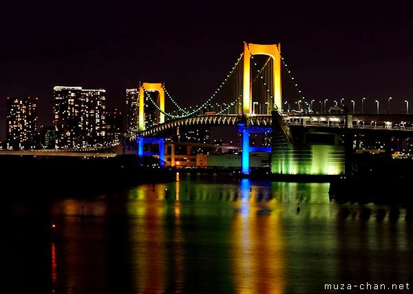 Rainbow Bridge Japan, Jembatan Pelangi Yang Indah