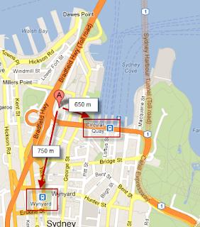 Australia trip - Sydney - Sydney Harbor YHA - Maps