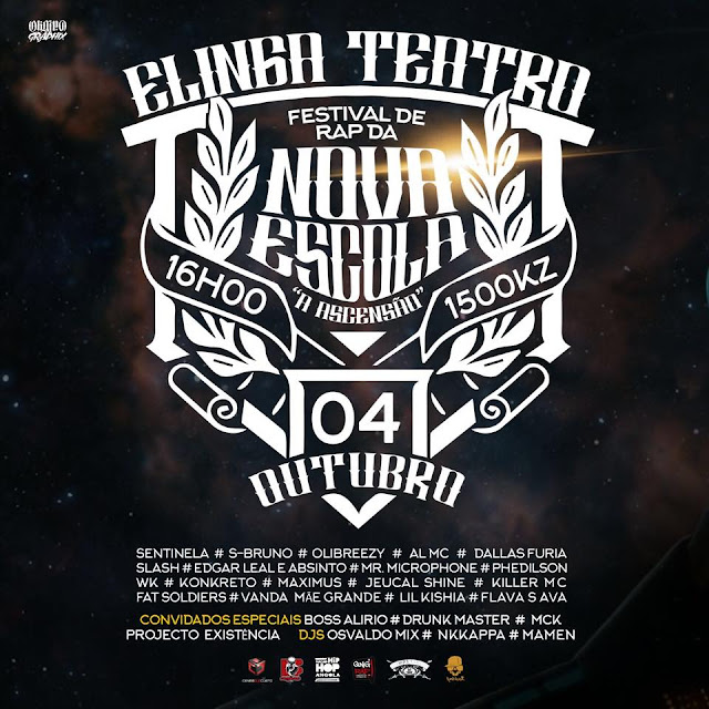 Festival de Rap da Nova Escola (A Ascensão) no Elinga Teatro || Dia 04.Out às 16:00