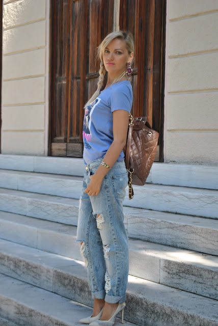 jeans boyfriend strappati outfit jeans boyfriend strappati come abbinare i boyfriend abbinamenti boyfriend come abbinare i jeans strappati jeans e tacchi abbinamenti jeans e tacchi outfit estivi outfit settembre 2015 mariafelicia magno fashion blogger colorblock by felym fashion blog italiani fashion blogger italiane blog di moda blogger italiane di moda boyfriend ripped jeans how to wear boyfriend ripped jeans summer outfits
