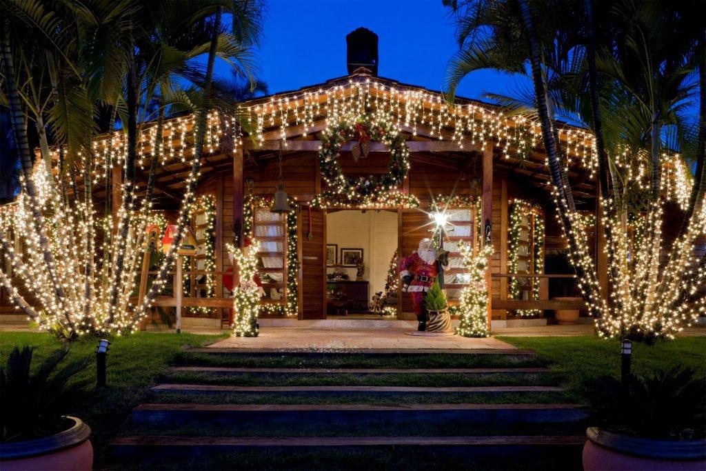 Construindo Sonhos Casa do Papai Noel, no Brasil -> Decoração De Natal Jardim