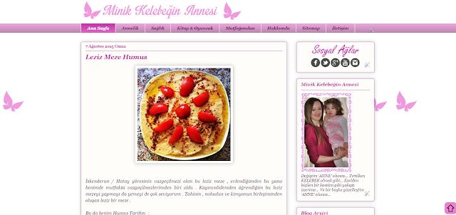 eski blog tasarım minik kelebeğin annesi