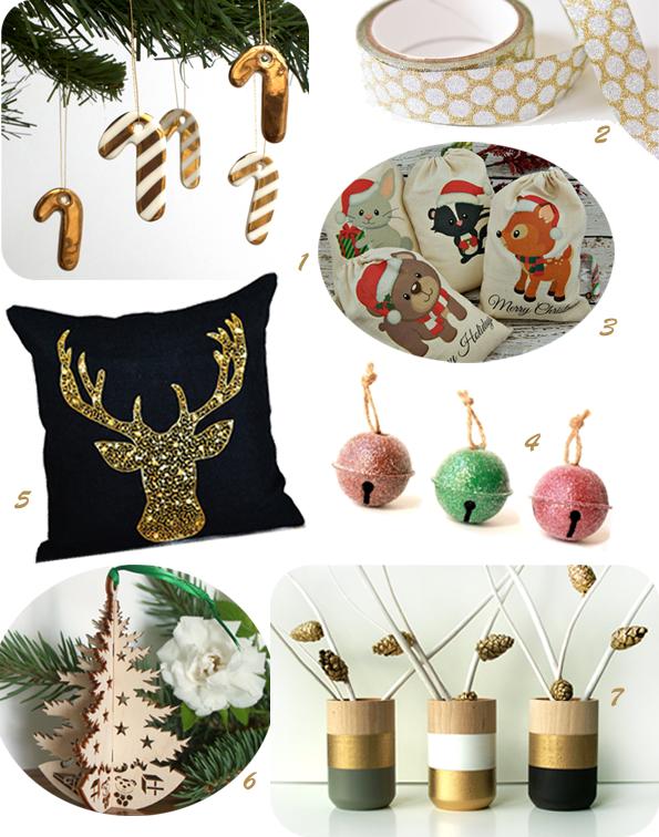 Sélection Etsy Noël glitter