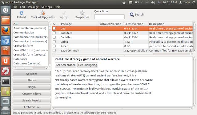 install synaptic in ubuntu 12.10