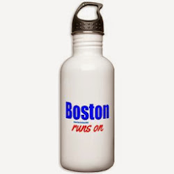 Boston Runs On Stainless Water Bottle 1.0L