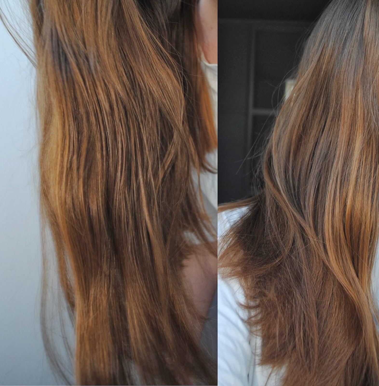 les reflets en question ces deux photos ont t prises aprs la 1re application - Gele Claircissante Garnier Sur Cheveux Colors