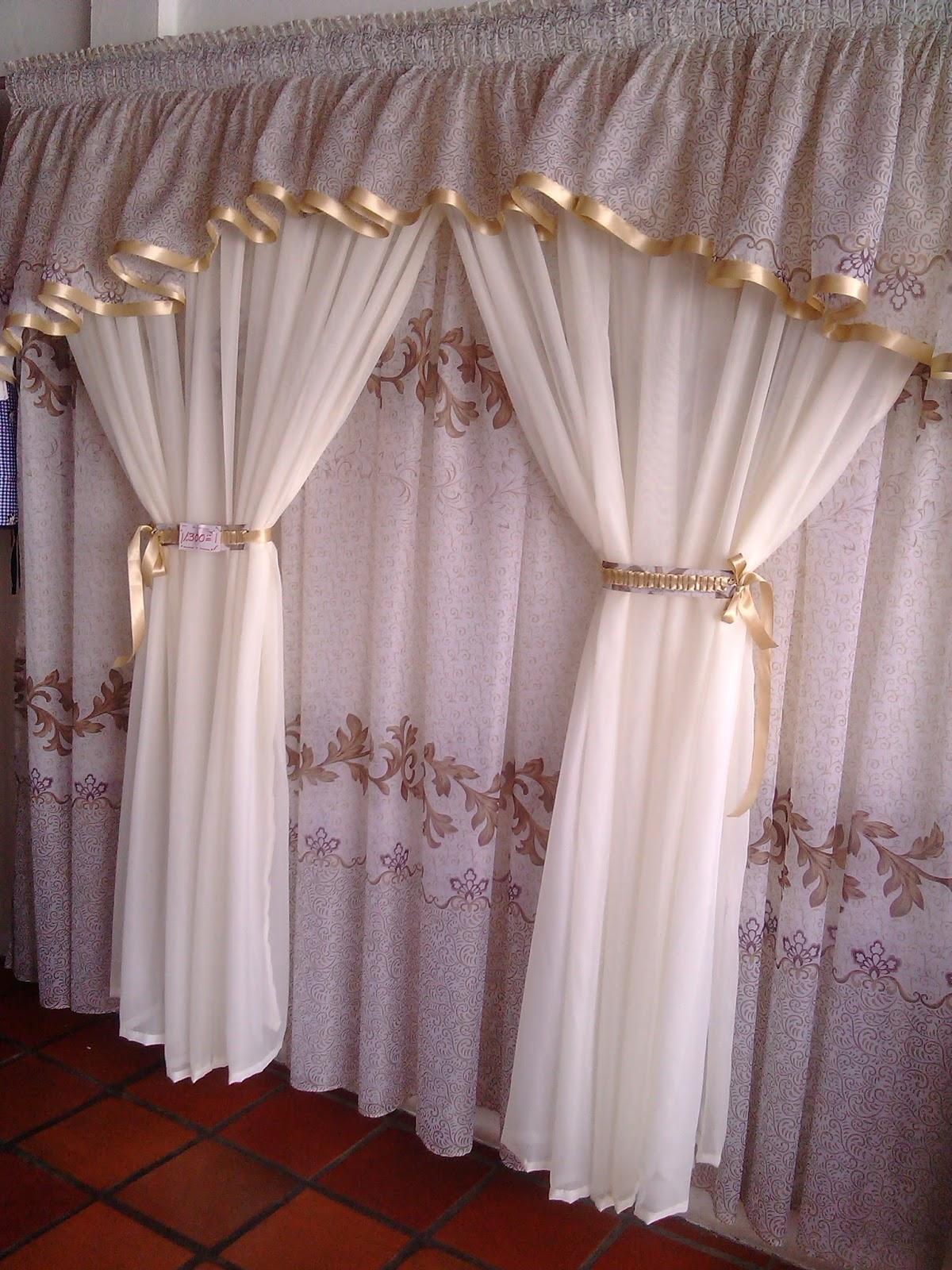 Lencer a para el hogar cortinas tipo casita for Tipos de cortinas para cocina